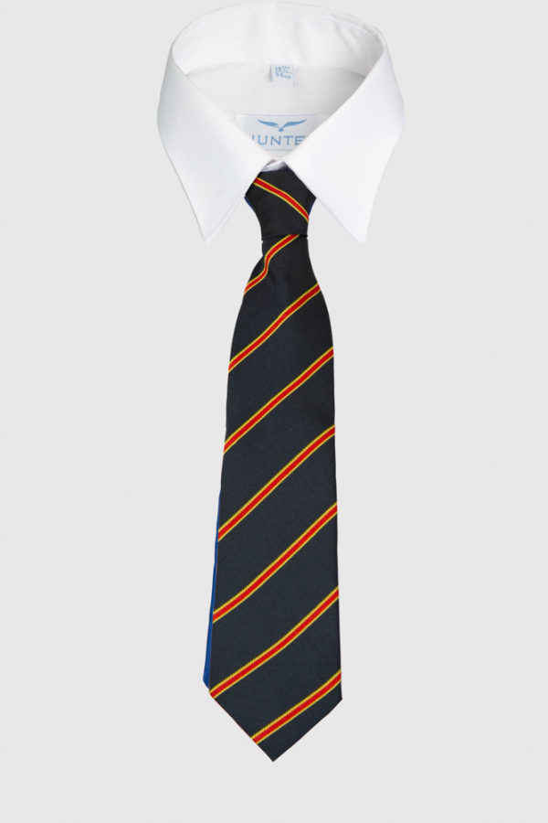 Navy/Red/Yellow striped School Tie