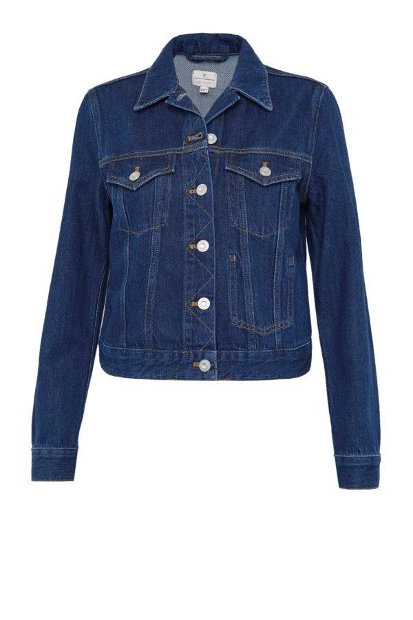 Macee Micro Western Denim Long Sleeved Jacket
