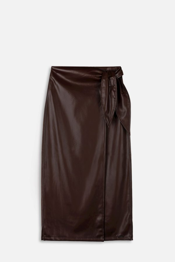 Clemmy Knotted wrap skirt