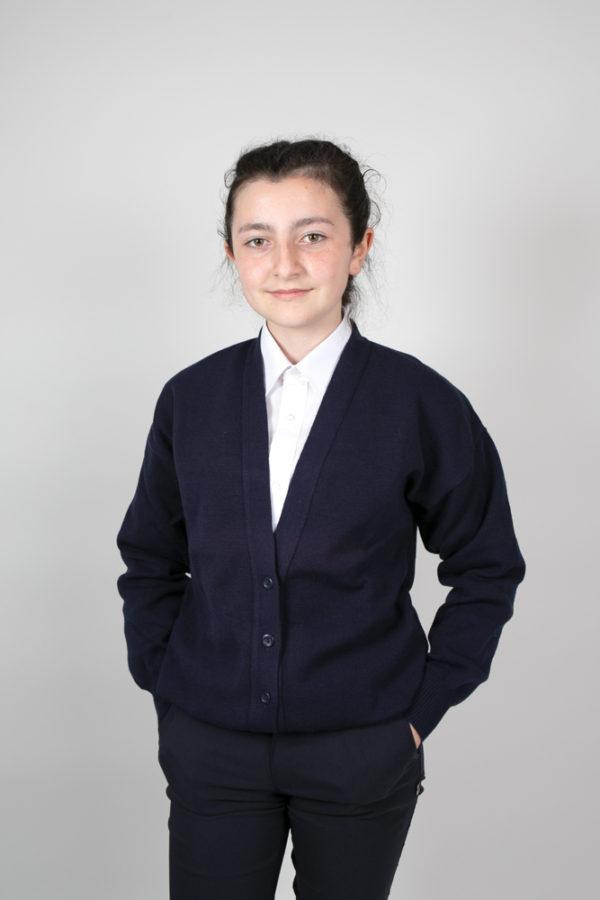Plain Primary School Navy Cardigan