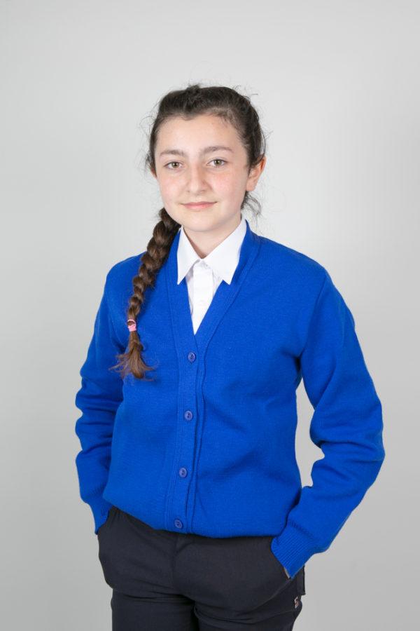 Plain Blue Primary School Cardigan