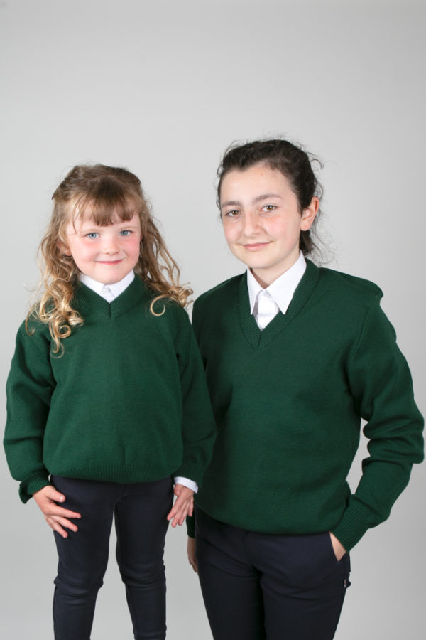 Plain Green Primary School Jumper