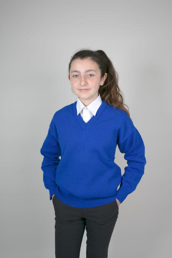 Plain Blue Primary School Jumper