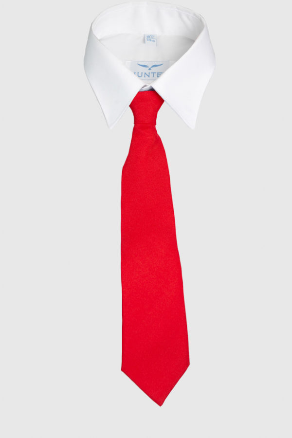 Primary School Red Elasticated Tie – One-Size