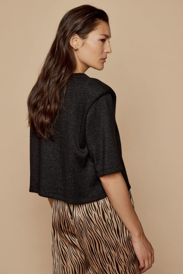 Lurex blouse with shoulder pads